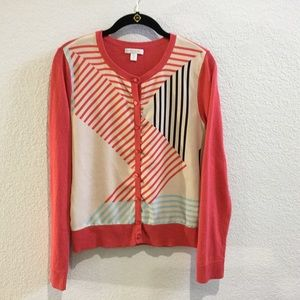New York&Company button down coral cardigan